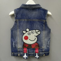 Vest neutral Yuyou spring and autumn routine No model Single breasted Denim Cartoon animation Cotton 95% polyurethane elastic fiber (spandex) 5% 6-16 Class B Chinese Mainland