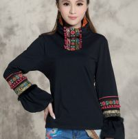 T-shirt Black Collection Gift M. L high quality spot, XL high quality spot, XXL high quality spot, XXXL high quality spot, 4XL high quality spot Autumn 2020 Long sleeves High collar Self cultivation Regular routine commute cotton 86% (inclusive) -95% (inclusive) 25-29 years old ethnic style classic