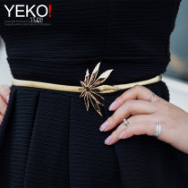 Belt / belt / chain Metal Silver Gold female Waist chain Versatile Single loop Youth, middle age a hook other Glossy surface 0.9cm alloy Tightness Yeko