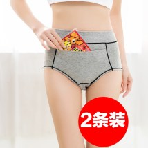 underpants female Optional 2 note color size purple gray black skin rose red M L Other / other 2 cotton Briefs High waist Simplicity Solid color youth More than 95% Cotton fabric physiology