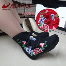 Boots 35 36 37 38 39 40 41 Red bm192-40421 red black cloth Taiheyuan High heel (5-8cm) Internal elevation cloth Middle cylinder Round head Artificial short plush Artificial short plush Winter 2017 Sleeve ethnic style rubber Plants and flowers Tassel boots Adhesive shoes Artificial short plush winter
