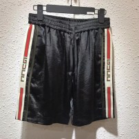 Casual pants Others Youth fashion Basic color (black, gray, white, etc.) S M L XL 2XL routine Shorts (up to knee) Travel? easy Micro bomb twenty-three thousand six hundred and sixty-five summer youth tide 2018 Medium low back Straight cylinder Sports pants Three dimensional tailoring washing stripe