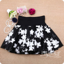 skirt Spring 2020 M11 is for a waist of 1'9 to 2'1, L13 is for a waist of 2'2 to 2'4, XL15 is for a waist of 2'4 to 2'6 Short skirt Versatile High waist Fluffy skirt Broken flowers Type A 81% (inclusive) - 90% (inclusive) Chiffon other