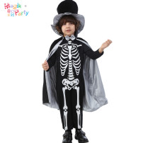 Clothes & Accessories Magic Party T code s code m code l code 125cm7-8 code 135cm9-10 code 145cm11-12 code Halloween Angel Devil Boy's skull little gentleman suit nothing