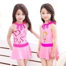 Children's swimsuit / pants You you S(80-90cm),M(90-100cm),L(100-110cm),XL(110-120cm),2XL(120-130cm),3XL(130-140cm),4XL(140-150cm) Pink love, blue love, pink love 4 sets, blue love 4 sets Children's Bikini female polyester fiber