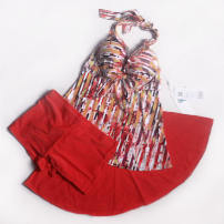 Split swimsuit Bugler Orange M (recommended 80-95 kg), XL (recommended 110-125 kg) Skirt split swimsuit Steel strap breast pad Nylon, spandex, polyester