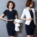 Other suits Spring 2017 White top + blue skirt, blue dress, white coat S,M,L,XL,XXL,XXXL Other / other