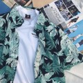 shirt Youth fashion UPSOAR FAMILY S M L XL green routine Short sleeve square neck easy Other leisure summer teenagers tide 2018 Plants and flowers printing
