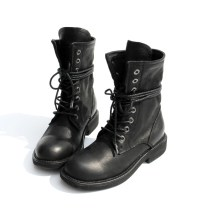 Boots Inventory is constantly changing, the code will be broken for a few days. Another link for men is to link with customer service. Oh, 34 35 36 37 38 39 40 41 42 43 44 Black man black velvet black top layer leather Amaxco / Amax Low heel (1-3cm) Flat bottom top layer leather Short tube Round head