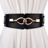 Belt / belt / chain Double skin leather Brown Black Red Coffee litchi - red litchi - Black litchi - Brown female Waistband Versatile Single loop Youth, middle age and old age Double buckle Double button Glossy surface 6cm alloy alone Cold weapon LBQO67 Autumn 2016 no
