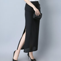 skirt Summer 2017 XS S M L XL black longuette sexy High waist Irregular Solid color Type H 25-29 years old More than 95% Chiffon Ni Fu Yuan polyester fiber Polyethylene terephthalate (polyester) 100% Pure e-commerce (online only)