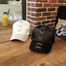 Hat Mercerization White Black Pink army green Adjustable Baseball cap Spring summer autumn currency leisure time Young lovers dome Short eaves Hip hop