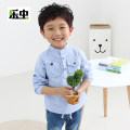 shirt Happy insects male 100, 110, 120, 130, 140 spring and autumn Long sleeves leisure time stripe Cotton blended fabric stand collar Cotton 75% polyethylene terephthalate (polyester) 25% A513 Class B Spring 2016