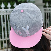 Hat Cotton polyester Pink brim black brim One size fits all (56-58cm) Baseball cap Spring summer autumn winter currency leisure time Young couple dome