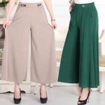 Middle aged and old women's wear trousers thin Polyester, cotton 7 / 9 pants
