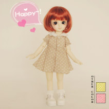BJD doll zone suit 1/6 Over 14 years old goods in stock Beige, pink, bright yellow, pink button with a dot 1/6 SW & DOLL -