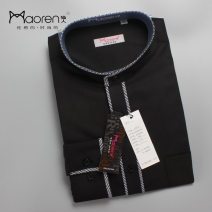 shirt Business gentleman Miow / cat man 39,40,41,42,43,44 Black, gray routine stand collar Long sleeves Self cultivation go to work Four seasons youth Business Casual 2021 other Color woven fabric No iron treatment cotton Arrest line Easy to wear 50% (inclusive) - 69% (inclusive)