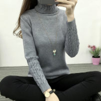 sweater Winter 2015 SMLXL Long sleeves Socket singleton  Regular High collar thickening commute routine Solid color Self cultivation Regular wool Keep warm and warm Pureniu Hemp flowers Pure e-commerce (online only)