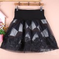 skirt Winter of 2019 M11 is for a waist of 1'9 to 2'1, L13 is for a waist of 2'2 to 2'4, XL15 is for a waist of 2'4 to 2'6 Decor Short skirt Versatile High waist Fluffy skirt Decor Type A 81% (inclusive) - 90% (inclusive) Lace cotton