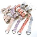 Belt / belt / chain canvas Red purple light blue pink currency belt leisure time Youth Double buckle letter Glossy surface 3.8cm alloy letter 130cm