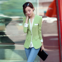 suit Autumn of 2018 Purple fruit green rose red S M L XL XXL lose money!!!!! Long sleeves Medium length Self cultivation V-neck A button Versatile routine Solid color 2YF2025--1827 25-29 years old 96% and above polyester fiber Fragrance of orchid Pocket button panel Pure e-commerce (online only)