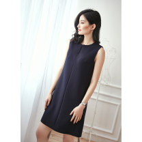 Dress Spring 2017 goods in stock S M L XL Mid length dress singleton  Sleeveless commute other middle-waisted zipper other other Others 25-29 years old Dust face Ol style CKQLE320 51% (inclusive) - 70% (inclusive) other polyester fiber Polyester 63% polyurethane elastic fiber (spandex) 5% others 32%