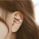 Ear Studs Alloy / silver / gold 40-49.99 yuan UXU Silver (single price) gold (single price) pink (single price) brand new Japan and South Korea female goods in stock Fresh out of the oven Not inlaid Plants and flowers E027_ thirty-five thousand one hundred and six Winter 2015