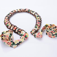 Belt / belt / chain silk Leopard print of small broken flower and big broken flower female Waist chain Sweet Single loop Youth, middle age and old age Double buckle bow Glossy surface 2.5cm Leopard Print Cold weapon LBQ150407 Spring 2015