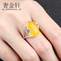 Ring / ring Silver ornaments 30-39.99 yuan Luxury gold Pavilion Stone position 13 * 18mm brand new goods in stock ethnic style female Fresh out of the oven Not inlaid Plants and flowers KTJ773 925 Silver Spring of 2018 no Exclusive to tmall (only sold in tmall)