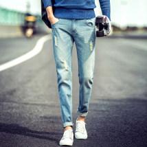 Jeans Youth fashion Deka Shijue Twenty-eight Blues mill (pants) routine No bullet Regular denim ADK-359TD Cotton 77.9% viscose 19.6% others 2.5%