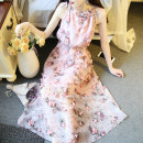 Dress Summer 2017 Pink S,M,L,XL singleton  Type A