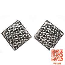 Ear Studs Silver ornaments 101-200 yuan Seven treasure tree The small size is about 1.0cm, the large size is about 1.8cm, the medium size is about 1.4cm brand new Europe and America female goods in stock Fresh out of the oven Silver inlaid gems other 925 Silver
