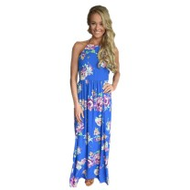 Dress Summer 2017 Red, blue S,M,L longuette singleton  Sleeveless street Crew neck Decor Socket Big swing camisole 18-24 years old Type H Other / other printing 51% (inclusive) - 70% (inclusive) brocade polyester fiber Europe and America