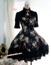 Lolita / soft girl / dress Strawberry witch Black short sleeves, black Ji sleeves, black long sleeves S. M, l, XL, custom size, no return, no change