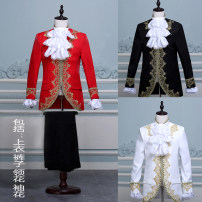 National Costume Other / other XS (about 100-110kg), s (about 120-130kg), m (about 140-150kg), l (about 160-170kg), XL (about 180-190kg) White, red, black other Gold inlaid Palace spring dance youth nylon other other other