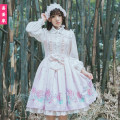Dress Spring 2017 S, M Mid length dress singleton  Sleeveless Sweet Crew neck middle-waisted Decor other Princess Dress other camisole 18-24 years old Type H YZ15 81% (inclusive) - 90% (inclusive) organza  Lolita
