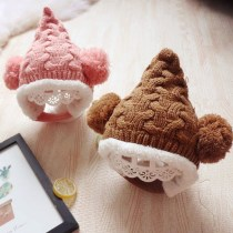 Hat Average size Beige yellow red coffee Pink 5-36 months (46-50cm) neutral Plush hat cone leisure time Other / other flannelette Winter of 2018
