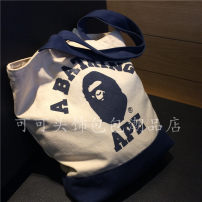 Bag The single shoulder bag canvas other Other / other Erect funds brand new Japan and South Korea in leisure time soft Exposure yes written words Double root One shoulder hand nothing juvenile other printing Soft handle Certificate bag Three dimensional bag