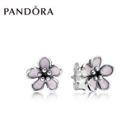 Ear Studs 925 Silver Pink Enamel 201-300 yuan Pandora / PANDORA Pink brand new Europe and America female goods in stock Fresh out of the oven other yes