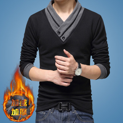 T-shirt Youth fashion 6237 two black Plush and thicken 190/XXXL All impression 021433 Cotton 95% polyurethane elastic fiber (spandex) 5% other
