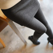 Women's large Spring 2021, autumn 2021 Dark grey, black Big 26, big 30, big 34, big 38, big 40, big 44, big 48-250-300 Jin trousers Fake two pieces commute Self cultivation moderate Solid color Korean version cotton 18-24 years old Short skirt trousers