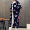 sweater Spring of 2018 Average size Vertical twist cardigan grey Mint rose red cardigan lace cardigan rose red lace cardigan turmeric print coat Navy print coat black print coat grey Long sleeves Cardigan singleton  Medium length cotton 30% and below V-neck thickening Sweet routine Solid color K12
