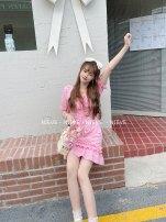 Dress Summer 2021 White, lemon yellow, rose red, sky blue S, M Neveu