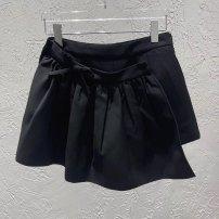 skirt Spring 2020 S,M,L black Denim skirt Lace other Lace