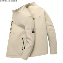 Jacket Other / other Fashion City 3XL,2XL,M,L,XL,4XL routine standard Other leisure spring Polyester 100% Long sleeves Wear out stand collar Business Casual youth routine Zipper placket 2021 Straight hem No iron treatment Closing sleeve Solid color polyester fiber Button decoration Side seam pocket