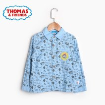 shirt 1 light blue tr81401, 2 gray tr81401, 3 white tr73403, 4 dark blue tr73403, 5 white tr81104, 6 green tr81104 Thomas & Friends / Thomas & Friends male 110cm,120cm,130cm,140cm,150cm spring and autumn Long sleeves leisure time Cartoon animation Pure cotton (100% cotton content)