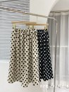skirt Spring 2021 Average size Apricot Bobo, black Bobo longuette commute High waist A-line skirt Dot Type A 18-24 years old Chiffon polyester fiber printing