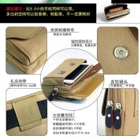 Mobile phone bag canvas Other / other brand new Zipper buckle written words Retro male other middle age Sewing polyester fiber 80% off 733B0007 Key position Suitable for 5.5-inch mobile phone