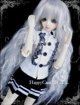 BJD doll zone Dress 1/3 Over 14 years old goods in stock Black and white 1/3 1/4 DWS Dress + skirt