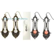 Earrings Alloy / silver / gold 10-19.99 yuan other White red brand new female ethnic style goods in stock Online gathering features Not inlaid other E-0079